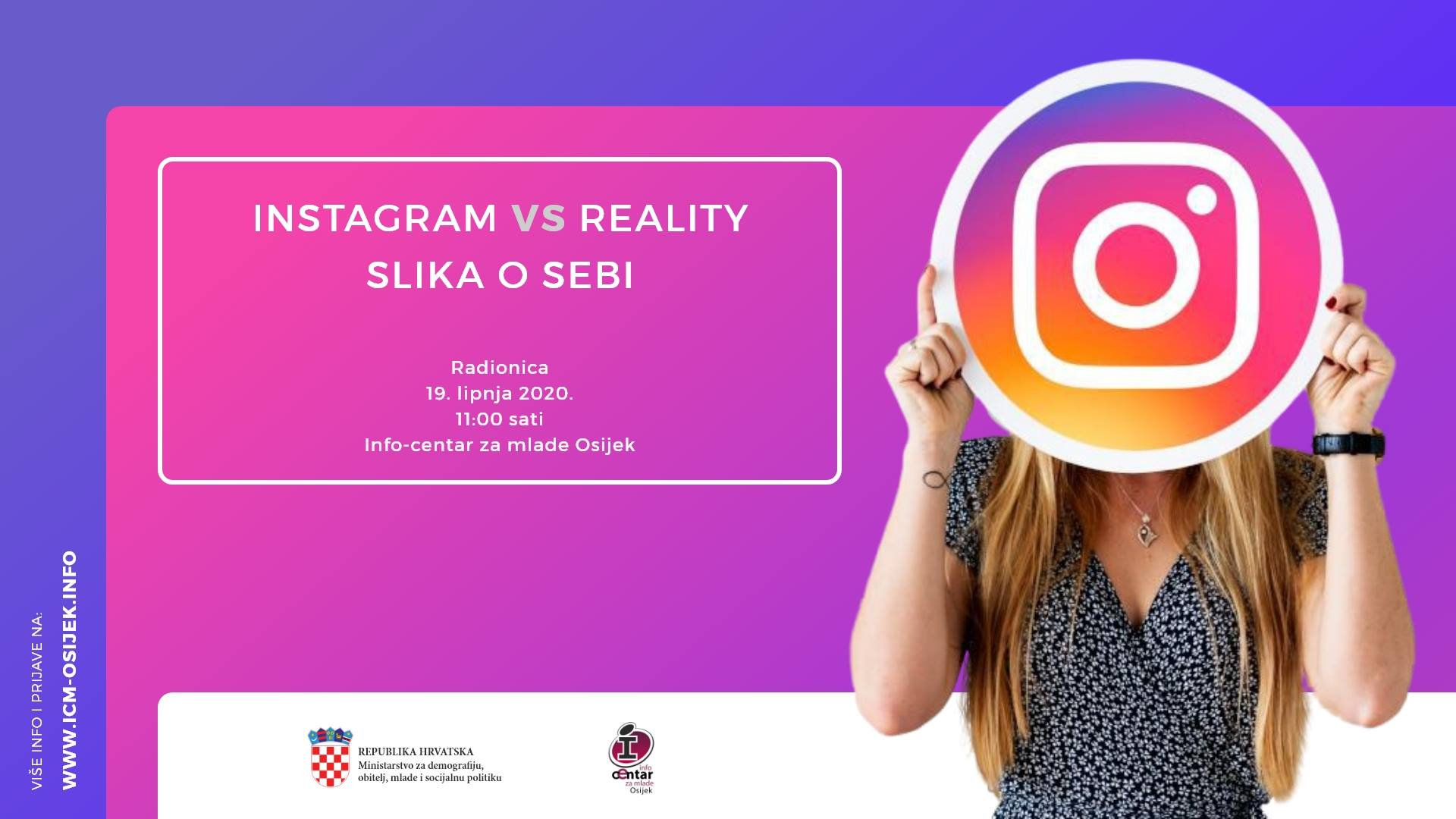 Slika o sebi: Instagram vs.reality - radionica