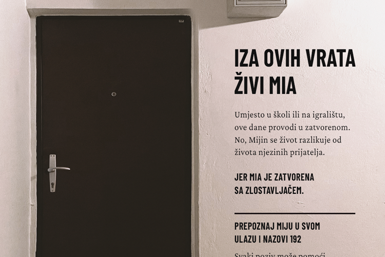 Kampanja Iza ovih vrata živi Mia – Prijavi nasilje!