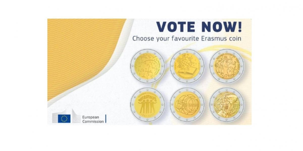 Odaberite svoj omiljeni dizajn za Erasmus novčić!