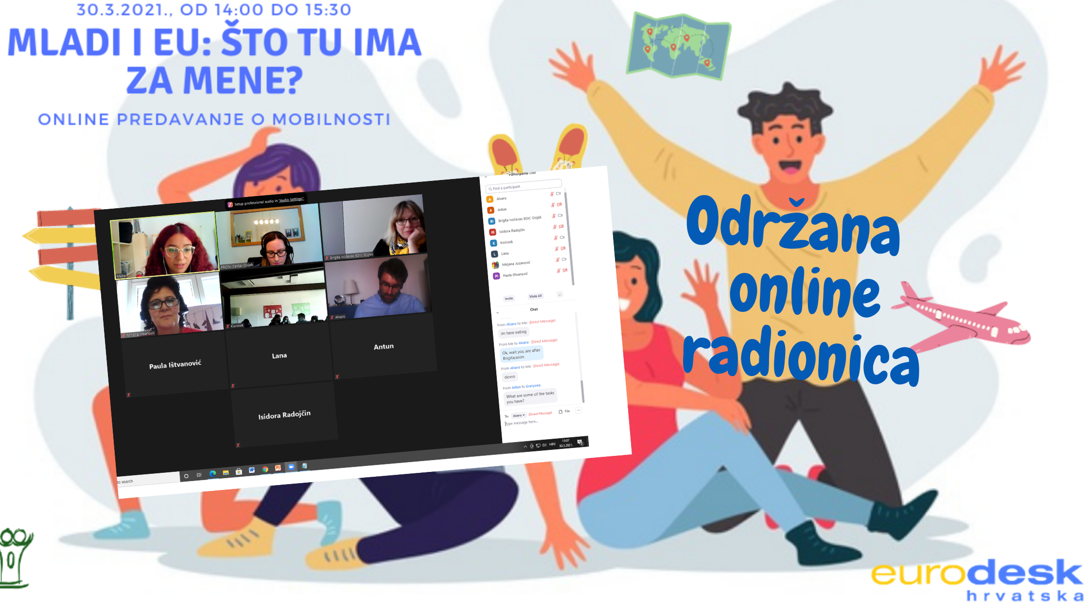 Održana online radionica: Mladi i EU