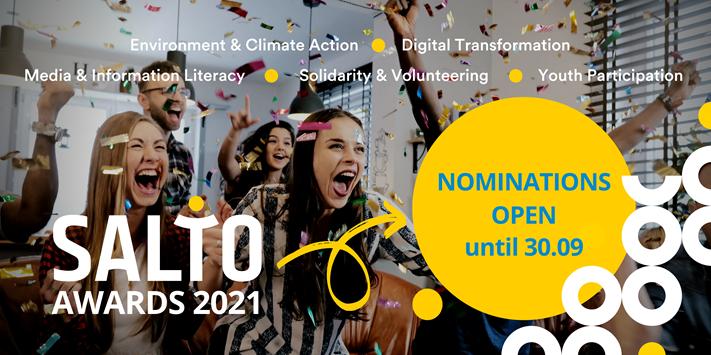 Otvorene su prijave za SALTO Awards 2021 – nagrade za inspirativne i kvalitetne projekte u području mladih