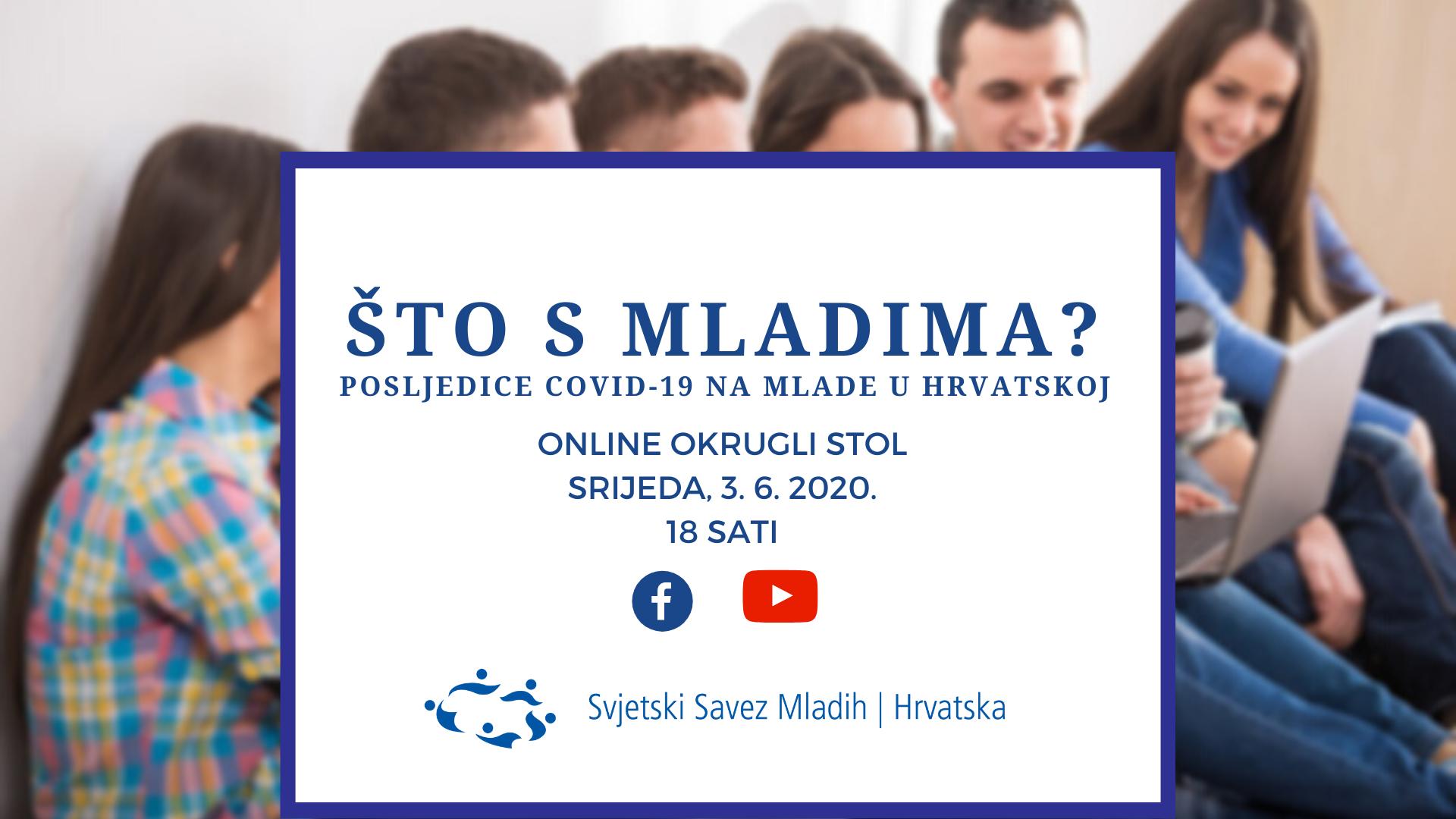 SSMH otvara javnu raspravu o utjecaju COVID-19 na mlade u Hrvatskoj